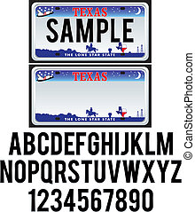 tallrik, texas, licens