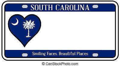tallrik, tillstånd, syd, licens, carolina