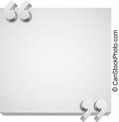 tallrik, utrymme, 3, vektor, vit, avskrift, template., citat