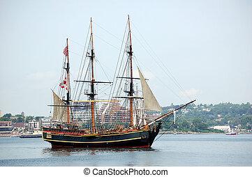 Tallship sailing vessel