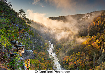 Tallulah Falls, Georgia, USA overlooking Tallulah Gorge