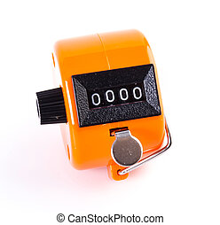 Tally Counter on isolated white background
