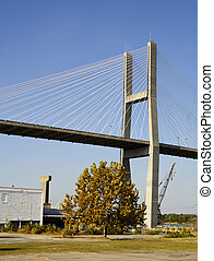 Talmadge Cable-Stayed Bridge - Talmadge Memorial...
