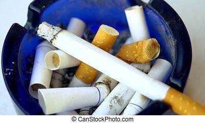 talon, fumées, cendrier, cigarette