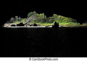 tam, coc, vietnam, cave., vista