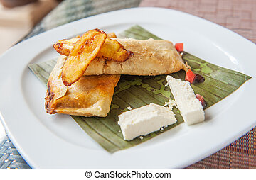 tamales, tradycyjny, mesoamerican, półmisek