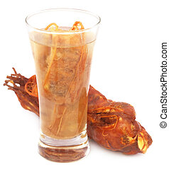 Tamarind juice in a glass