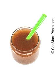 Tamarind smoothie. Detox superfood isolated on white...