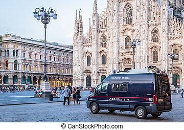 también, coche, área, nombrado, carabinieri, carabineer, ...