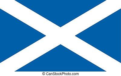 también, escocia, cruz, c/, saltire, bandera, andrews, conocido, o