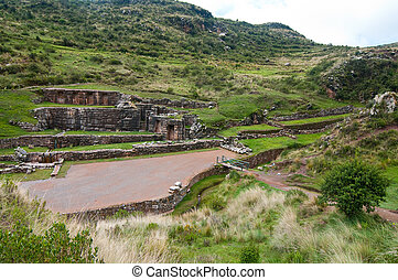 The picture of tambomachay baths, cusco, peru