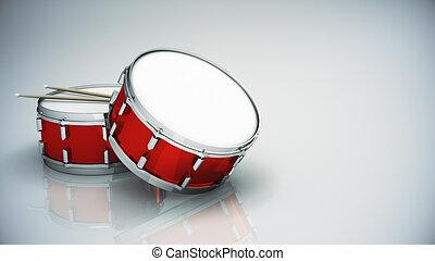 tambor, bajo, aislado