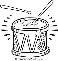 tambor de la trampa, bosquejo