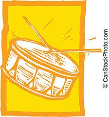 tambor de la trampa
