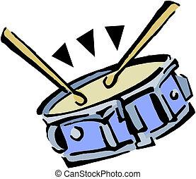 tambor, drumsticks