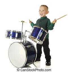tambor, feliz