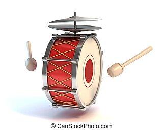 tambor, instrumento, baixo