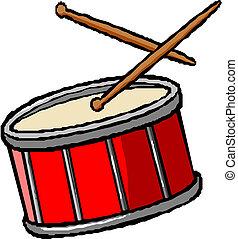 tambor, palillos