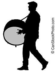 tambor, parada