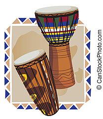 tambores, africano
