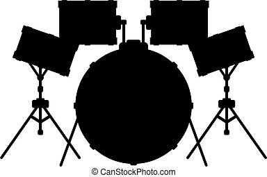 tambour, silhouette, kit
