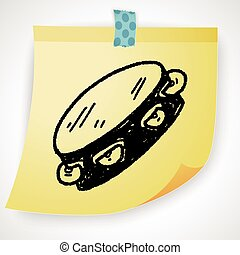 tambourine, doodle