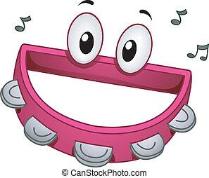 Tambourine Mascot - Mascot Illustration of a Tambourine...