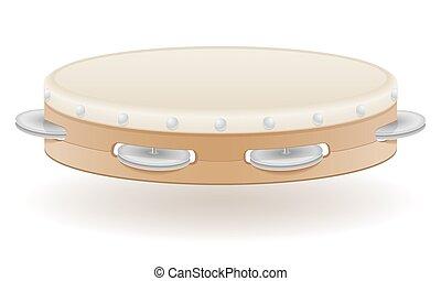 tambourine musical instruments stock vector illustration
