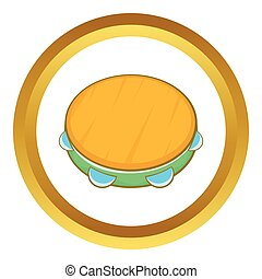 Tambourine vector icon