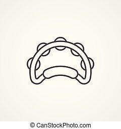 tambourine vector icon sign symbol