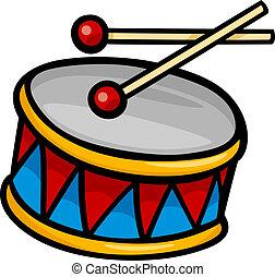 tamburo, arte clip, cartone animato, illustrazione