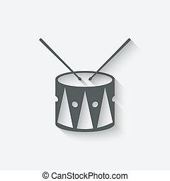 tamburo, musica, icona
