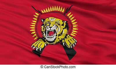 Tamil Tigers Flag Closeup Seamless Loop - Tamil Tigers Flag,...