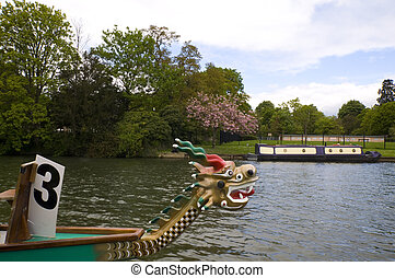 tamise, bateau, dragon