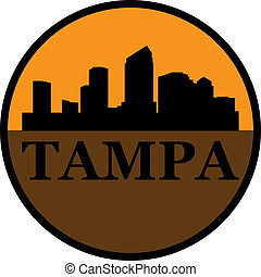 Tampa c - Tampa high-rise buildings skyline