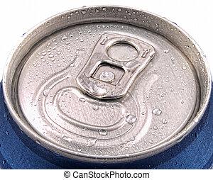 tampa, puxar, condensação, lata lata, molhados, anel