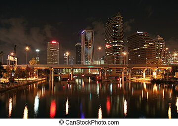 Tampa Skyline - Tampa Florida at night