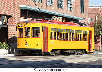 Tampa Bay streetcar transit in Ybor City
