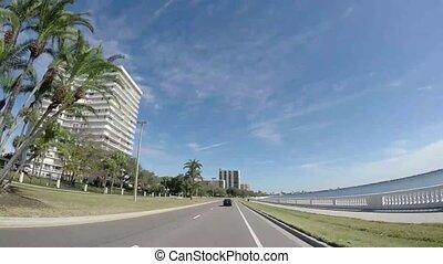 tampa, vue, florida., tampa, boulevard, horizon, beau, ...