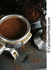 Tamped Espresso Bayonet - Bayonet filled with espresso,...