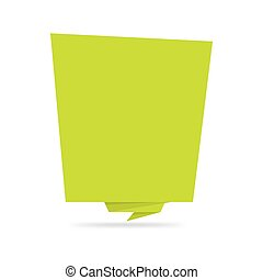 tamplate., stil, banner, aufkleber, origami