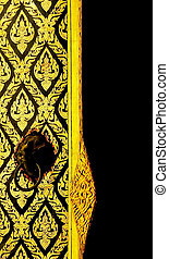 Tample window - The old style design of temple window