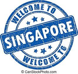 tampon, accueil, singapour
