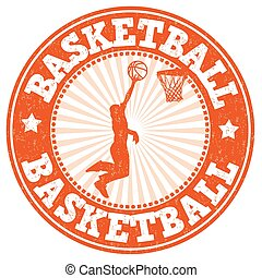 tampon, basket-ball, grunge