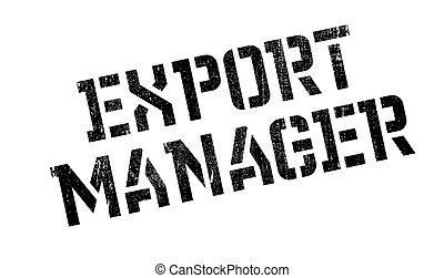 tampon, directeur, exportation