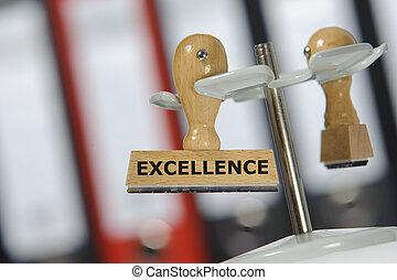 tampon, excellence, marqué