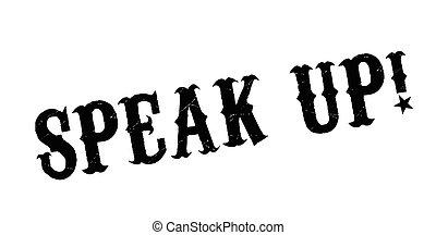tampon, haut, parler
