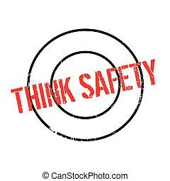 tampon, sécurité, penser