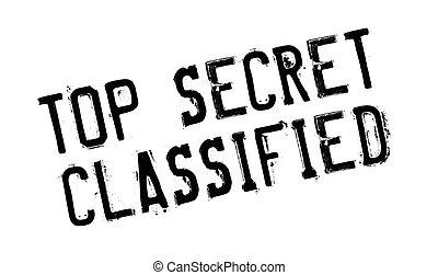 tampon, sommet, classifié, top secret