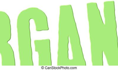 tampon, vert, organique, espagnol